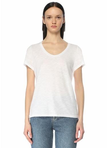 American Vintage Polo Yaka T-shirt Beyaz